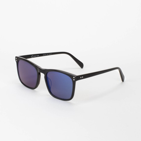 Handmade Stratos Black with Deep Blue mirror lens