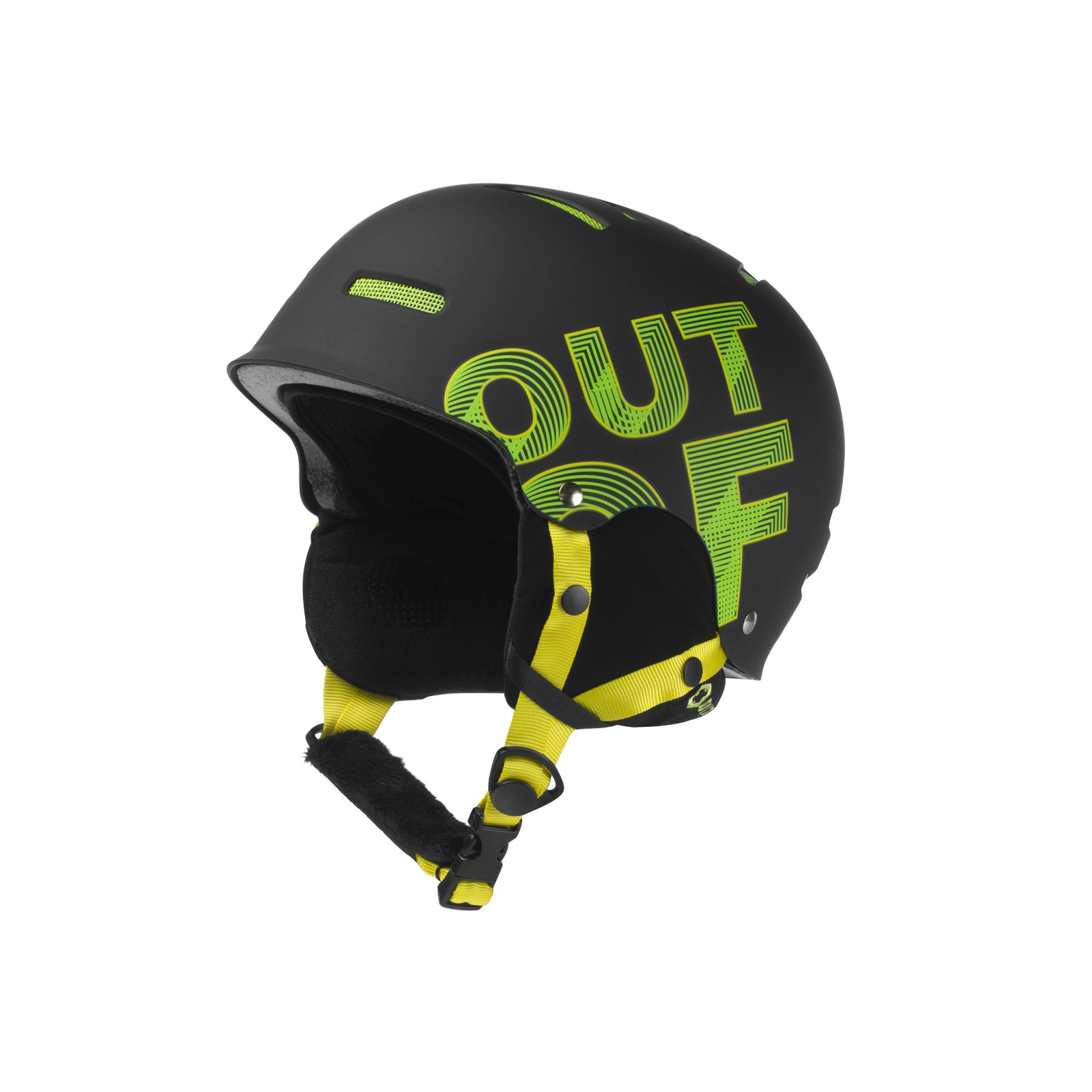 WIPEOUT BLACK GREEN HELMET