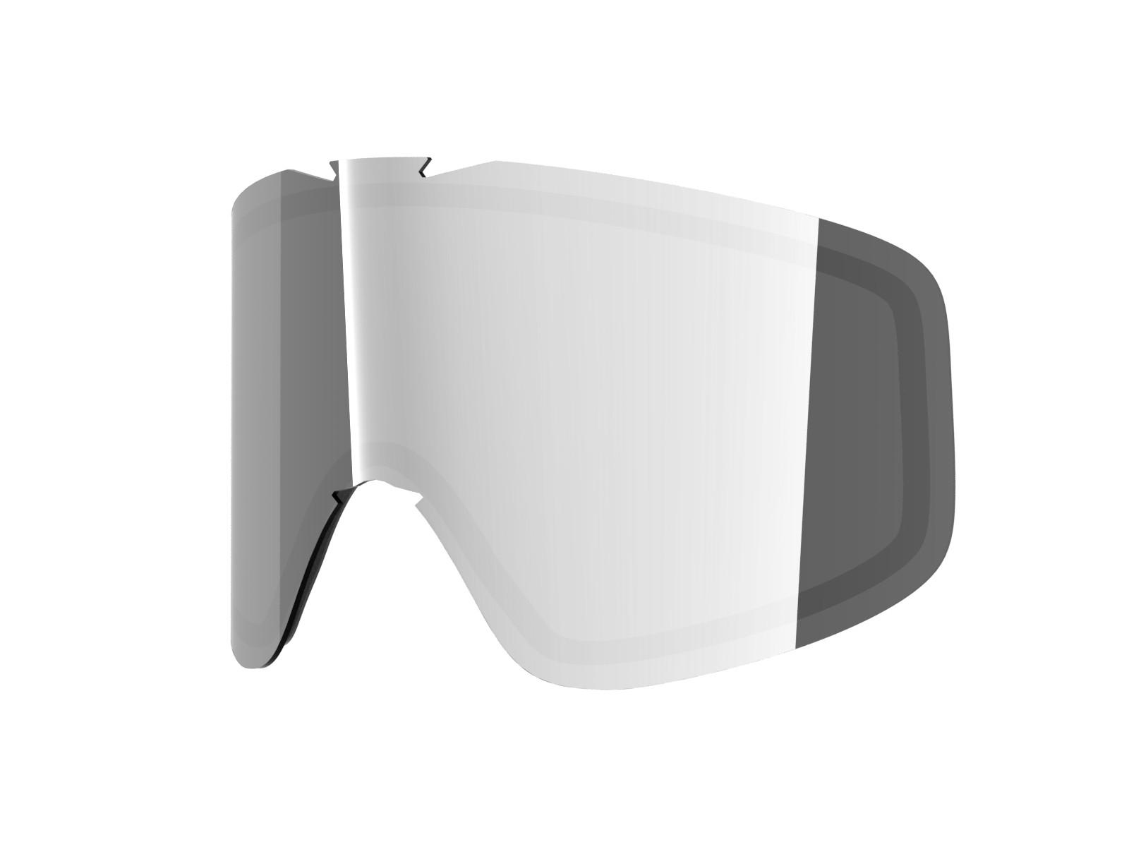 Silver lens for Lente per Flat goggle