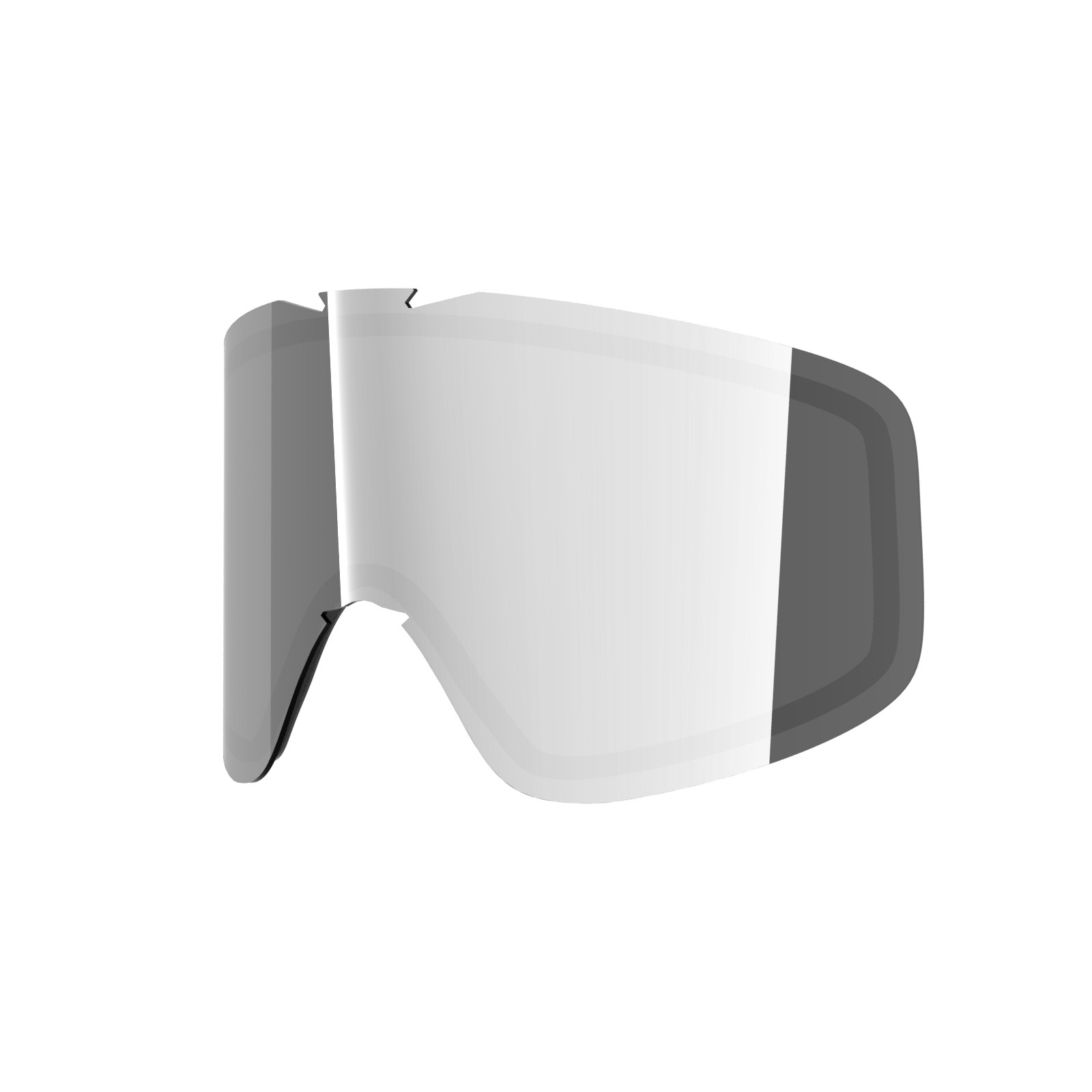 SILVER lens for  Flat goggle