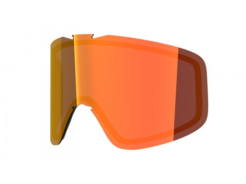 Red mci lens for Lente per Flat goggle