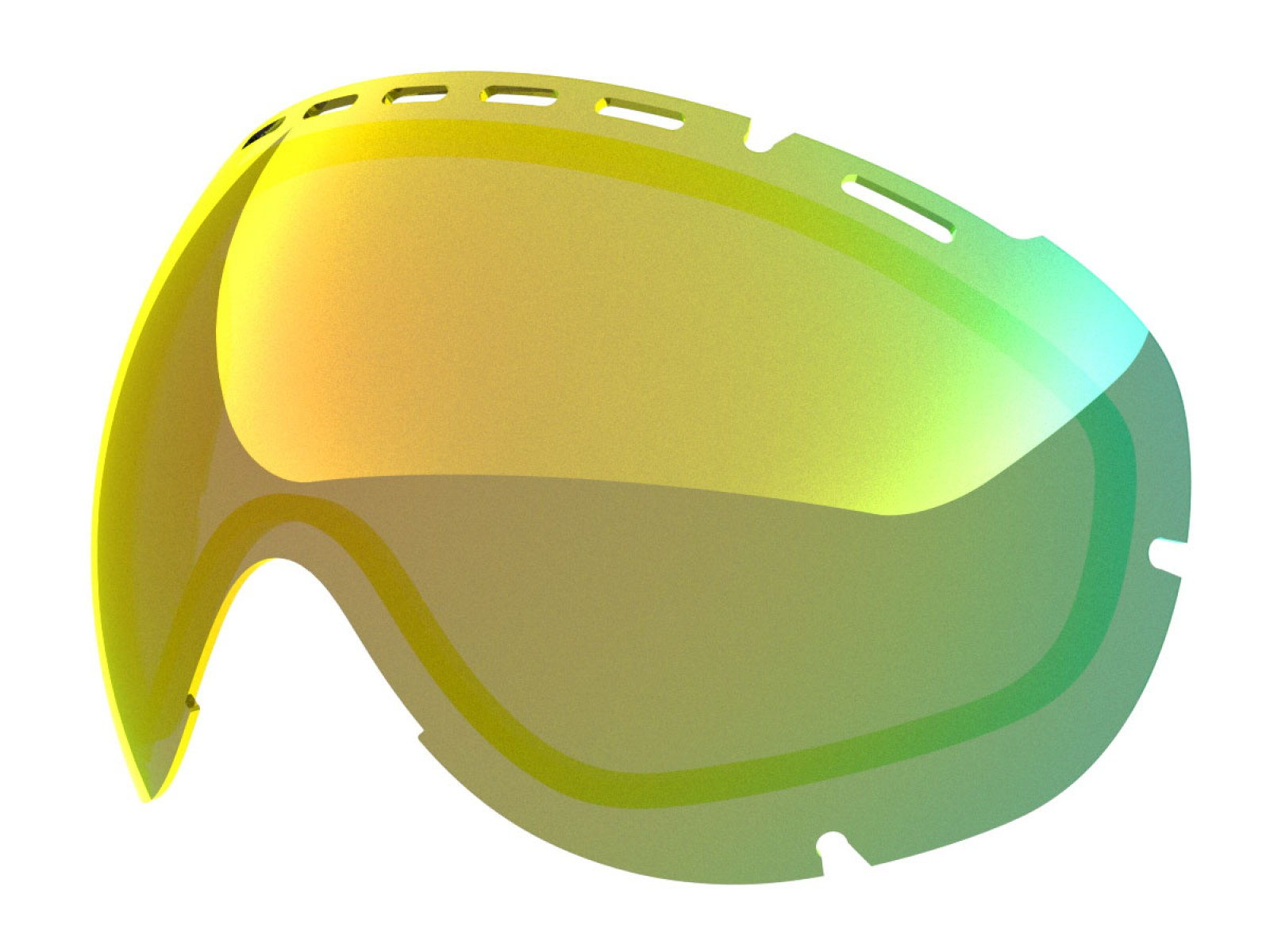 GOLD MCI LENS FOR EYES GOGGLE