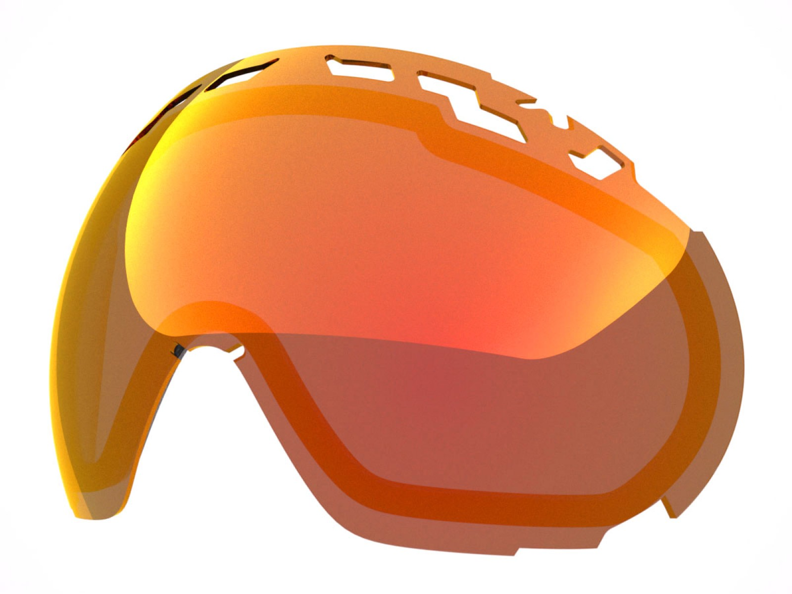 RED MCI LENS FOR EDGE SNOW GOGGLE