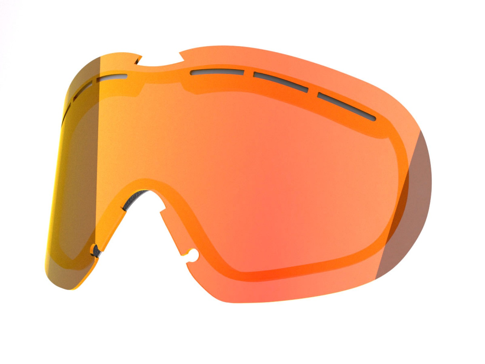 RED MCI LENS FOR FLAT SNOW GOGGLE