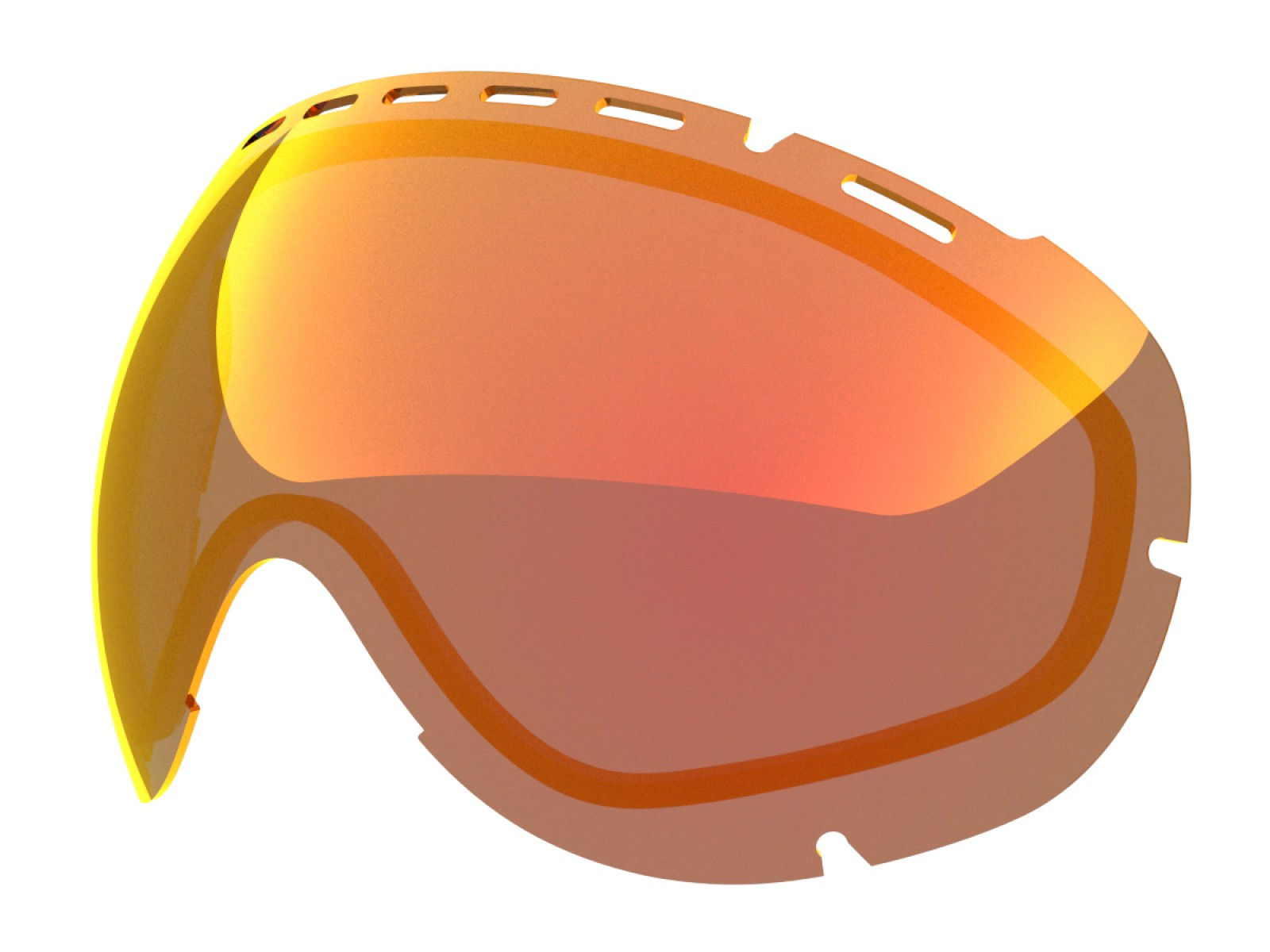 Red mci lens for Lente per Eyes goggle