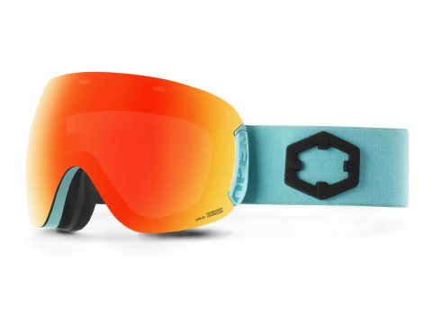 OPEN TURQUOISE RED MCI GOGGLE