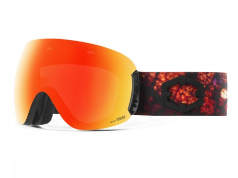 OPEN LEAF RED MCI GOGGLE