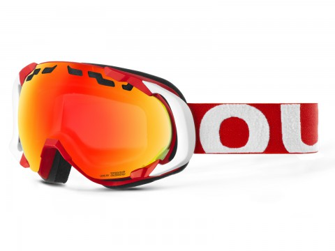 EDGE RED WHITE RED MCI GOGGLE