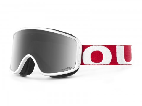 SHIFT RED WHITE SILVER GOGGLE