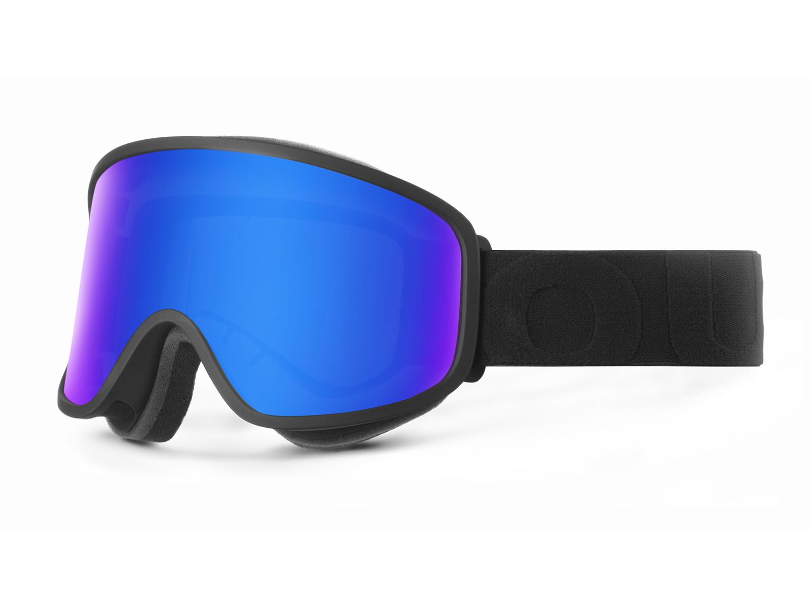MASCHERA FLAT BLACK BLUE MCI