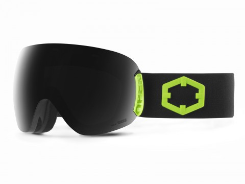 OPEN BLACK GREEN SMOKE GOGGLE