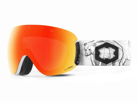 OPEN BEAR RED MCI GOGGLE