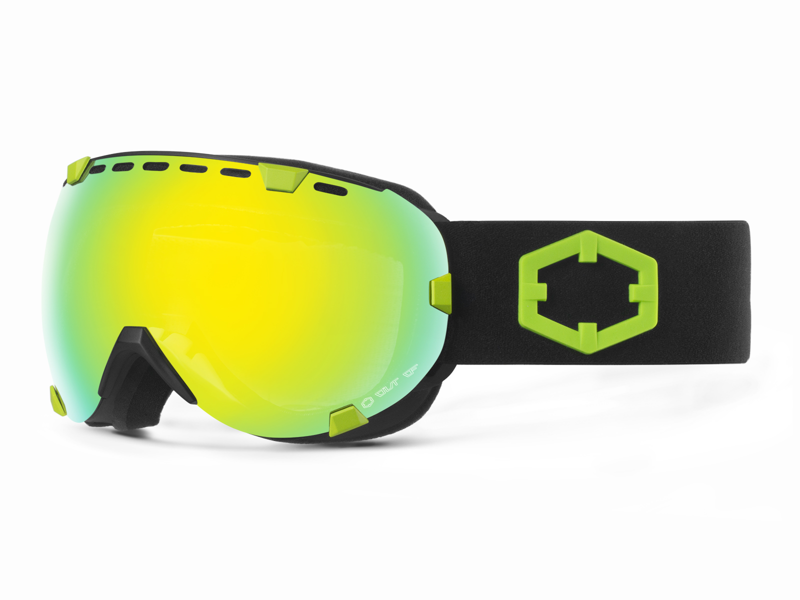 EYES BLACK GREEN GOLD MCI GOGGLE