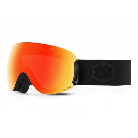 Open Black Red mci goggle