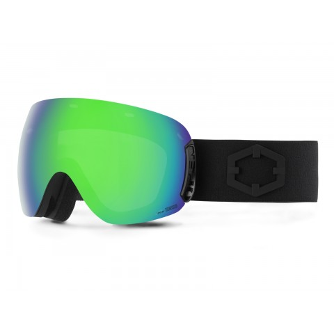 Open Black Green mci goggle