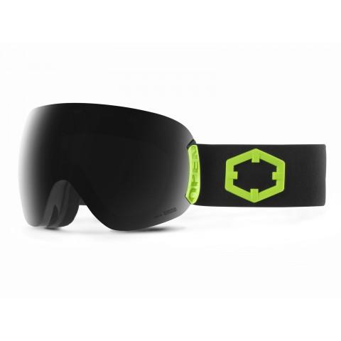 Open Black green Smoke goggle