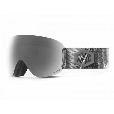 Open Feather Silver goggle