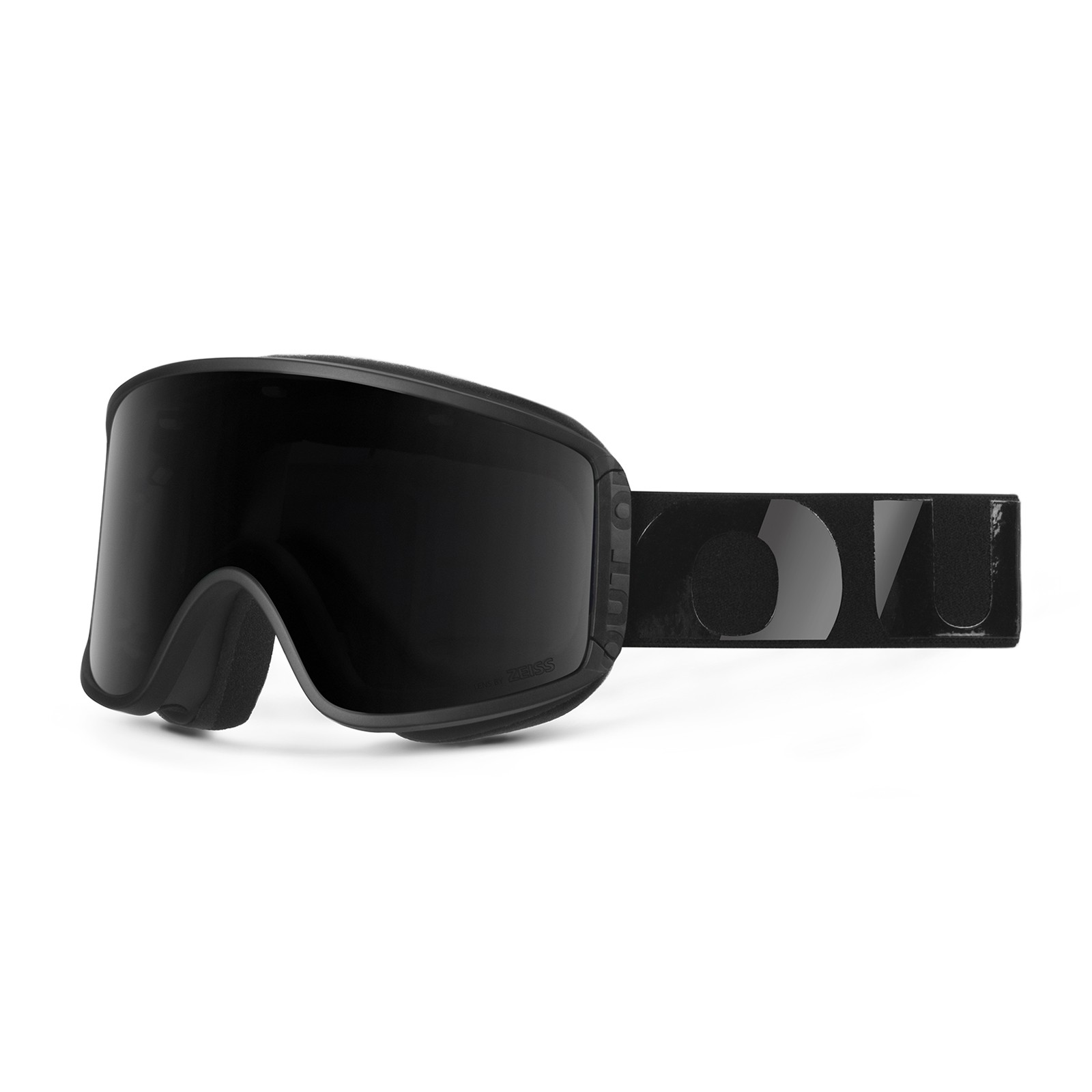 Shift Black silicone Smoke goggle