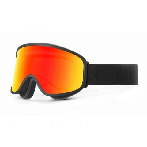 Flat Black Red mci goggle