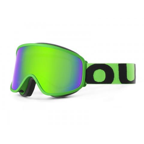 Flat Fluo green Green mci goggle