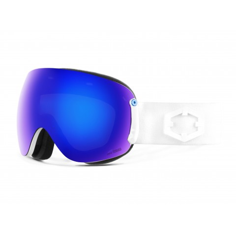 Open xl White Blue mci goggle
