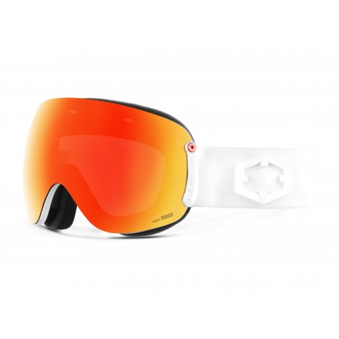 Open xl White Red mci goggle