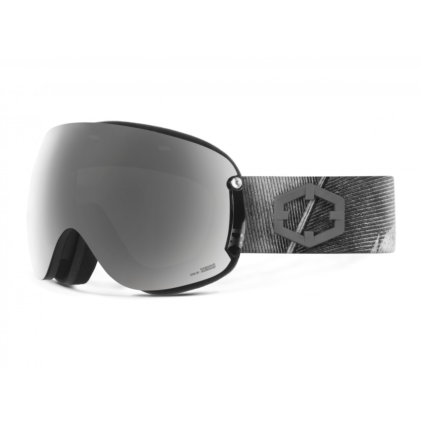 Open xl Feather Silver goggle