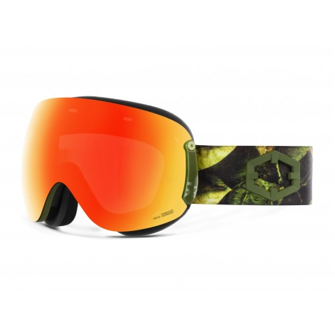 Open xl Evergreen Red mci goggle