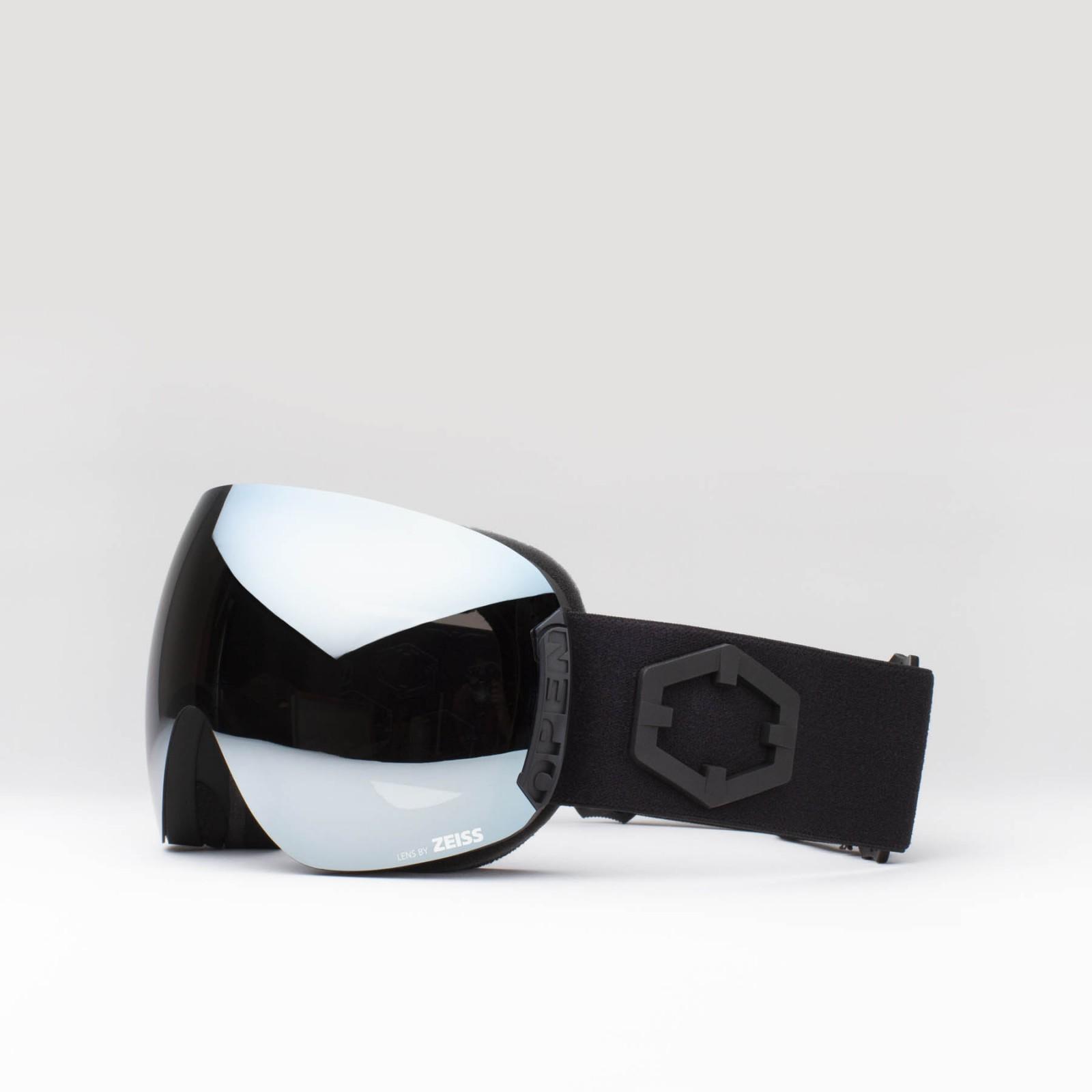 Open Black Silver goggle