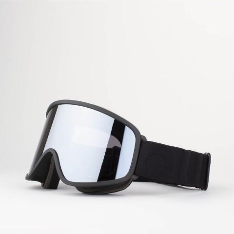 Flat Black Silver goggle