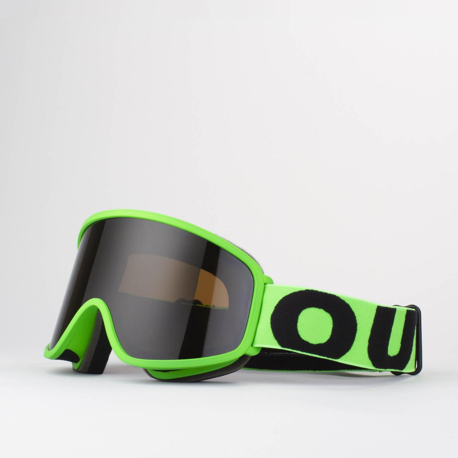 Flat Fluo Green Smoke goggle