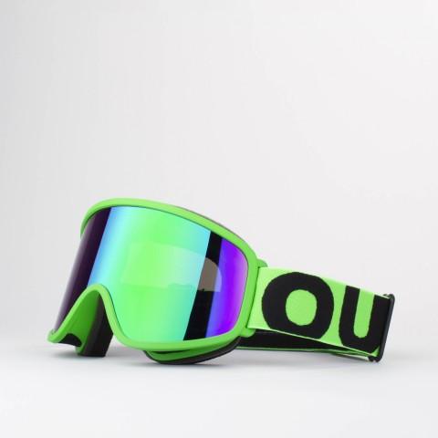 Maschera Flat Fluo Green Green MCI