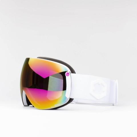 Open XL White Violet MCI goggle
