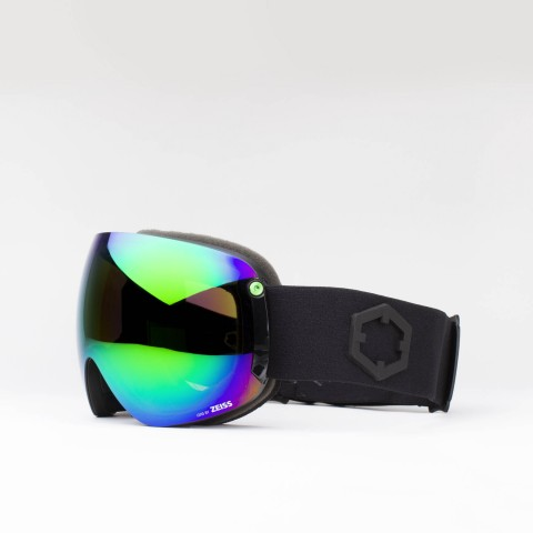 Open XL Black Green MCI goggle