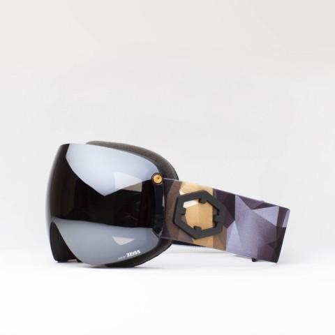 Maschera Open XL Origami Silver
