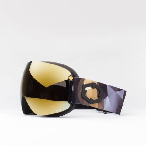 Maschera Open XL Origami Gold24 MCI