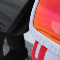 Two Out Of Shift ski goggles in two different colors detail