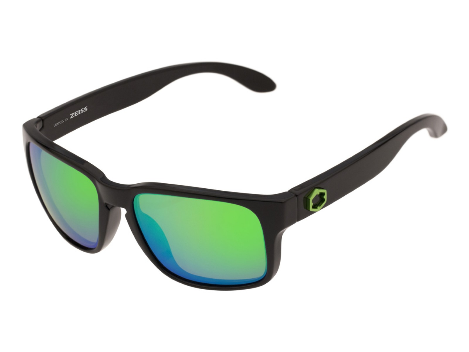 SWORDFISH COLOR GLOSSY BLACK LENSES GREEN MCI