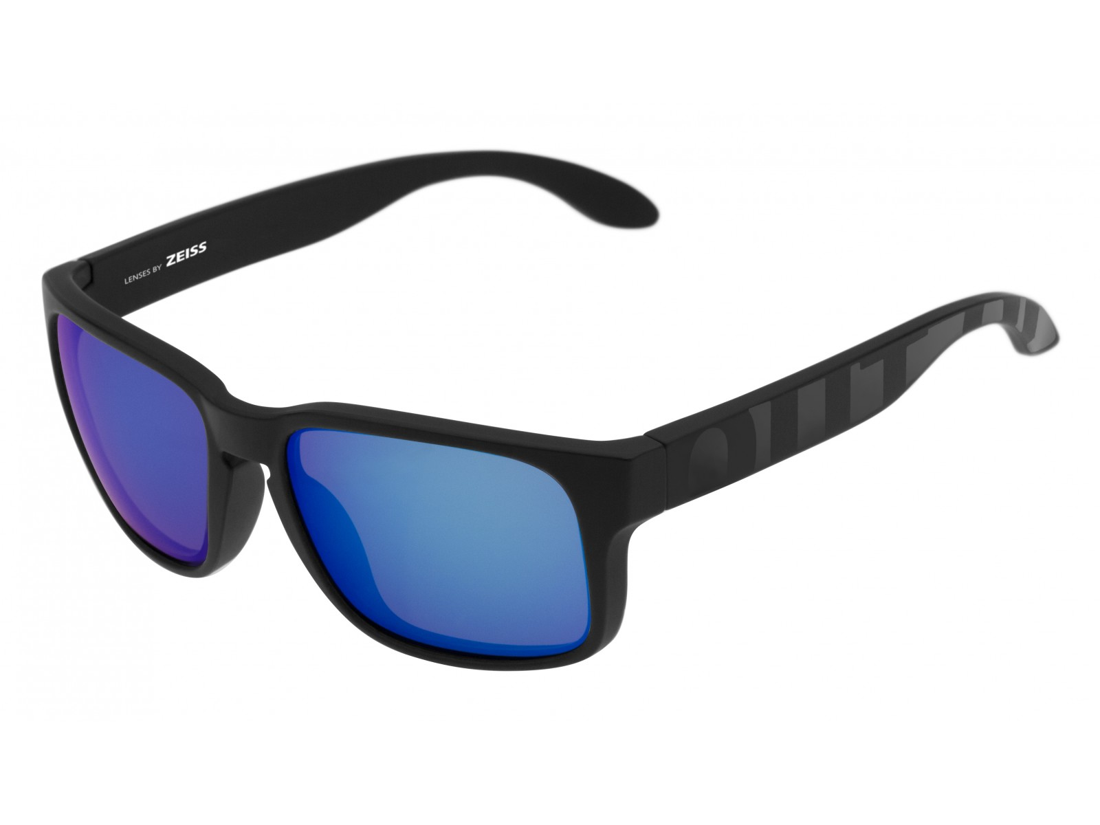 SWORDFISH COLOR BLACK MATT-GLOSSY LENSES BLUE MCI