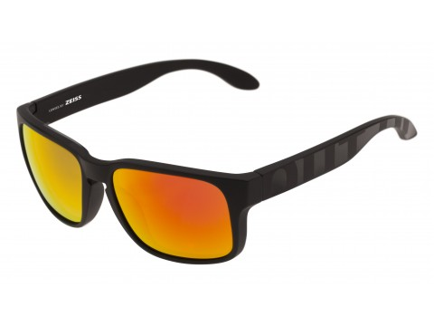 SWORDFISH COLOR BLACK MATT-GLOSSY LENSES RED MCI