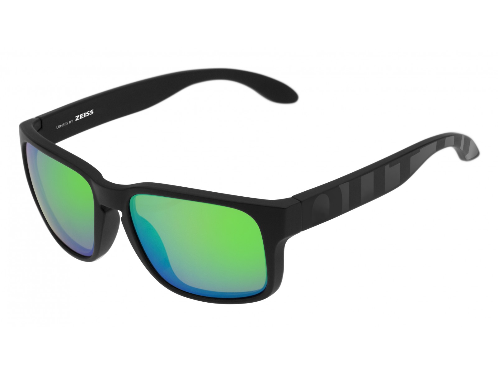 SWORDFISH COLOR BLACK MATT-GLOSSY LENSES GREEN MCI