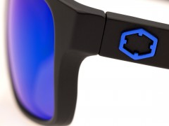 Out Of Swordfish sunglasses left anodized metal logo detail