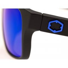 Out Of Swordfish sunglasses left anodized metal logo detail
